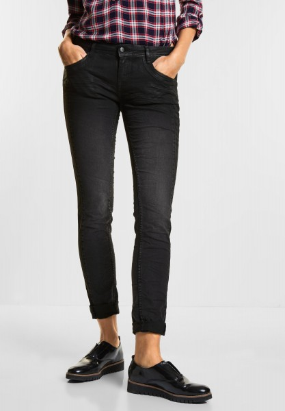 Street One - Coated Denim Crissi in Black Part Coated Wash
