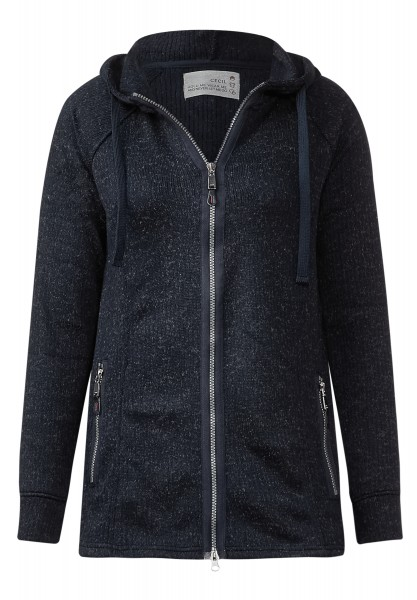 CECIL - Sweatjacke in Melange Lina Deep Blue