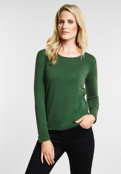 CECIL - Organic Baumwoll Shirt Pia in Fresh Meadow Green