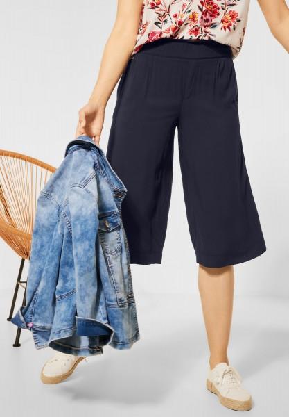 Street One - Loose Fit Hose mit Wide Legs in Dark Foggy Blue