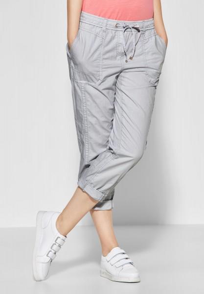 CECIL - Einfarbige Hose Jessy in Cool Silver