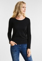 CECIL - Organic Baumwoll Shirt Pia in Black