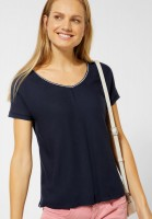 Street One - Glitzer Bluse Landa in Deep Blue