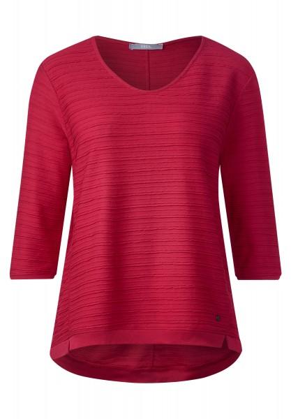 CECIL - Rippstruktur Shirt Fenja in Just Red