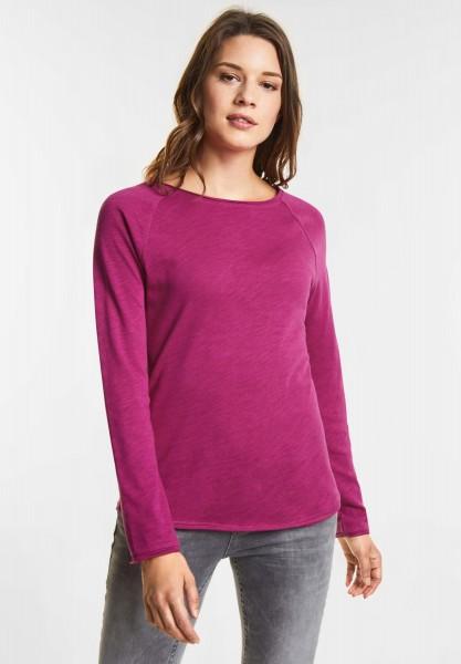 Street One Weiches Shirt Mina in Dark Electric Pink