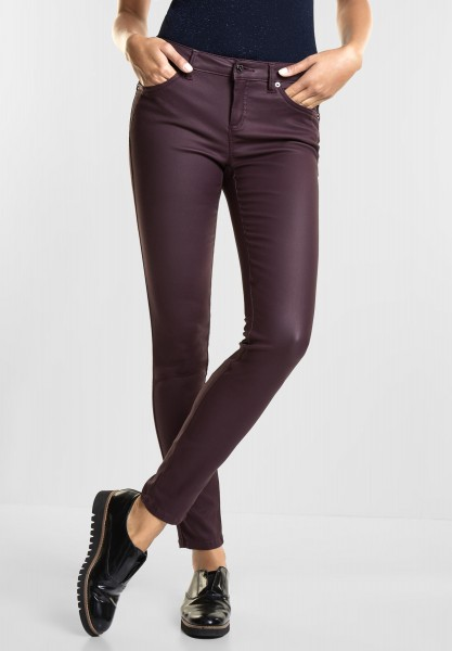 Street One - Coated Slim Fit York in Mystique Berry