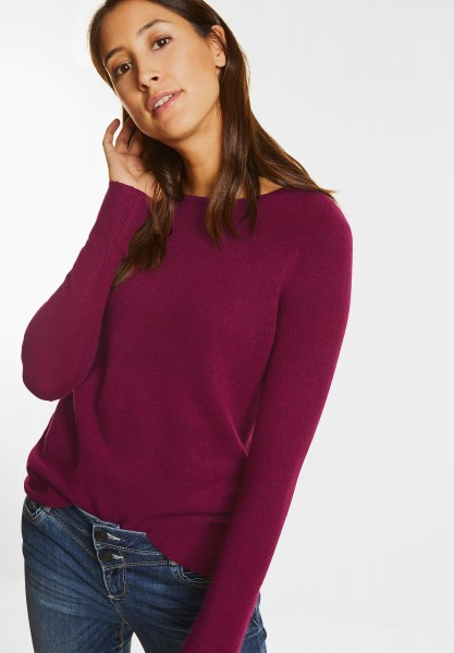 Street One - Feinstrick Pullover Marie in Warming Berry