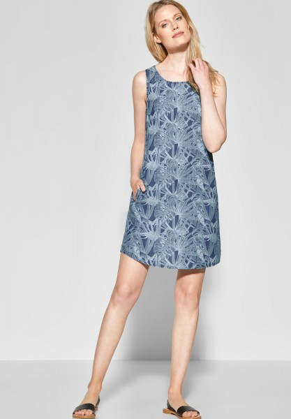 CECIL - Lyocell Kleid mit Print in Printed Flower Used Wash