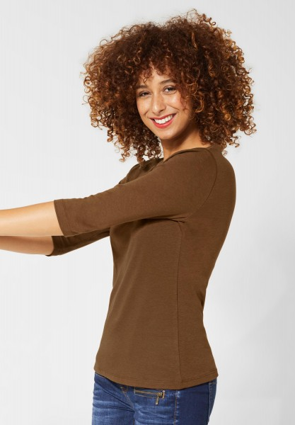 Street One - Basic Shirt Pania in Otter Brown