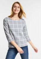 Street One Karo Style Sweatshirt in Moon Grey Melange