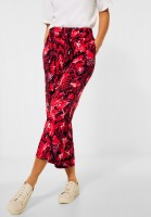 Street One - Loose Fit Hose mit Print in Spice Red
