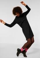 Street One - Sweat Kleid mit Wording in Black
