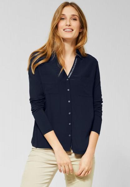 CECIL - Shirt in Blusen-Optik in Deep Blue