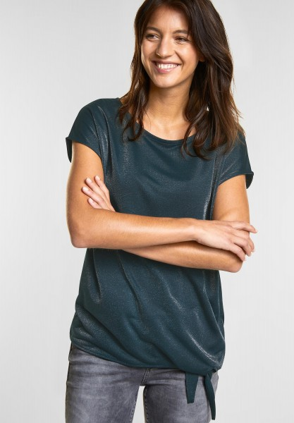 Street One - Schimmerndes Shirt Femke in Deep Ivy