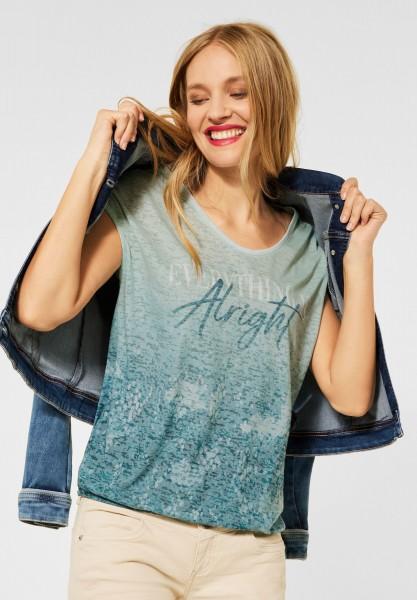 Street One - T-Shirt mit Fotoprint in Spruce Green