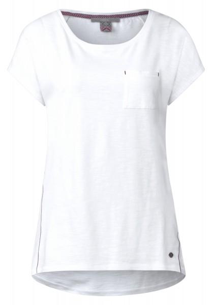 CECIL - Basic Style Shirt mit Tasche in White