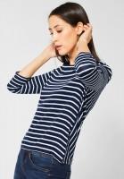 Street One - Shirt Helen mit Streifen in Deep Blue
