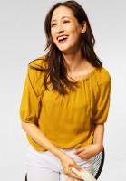 Street One - Raglan Bluse mit Schleife in Sulphur Yellow