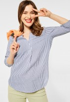 Street One - Bluse mit Streifen Muster in Shadow Blue