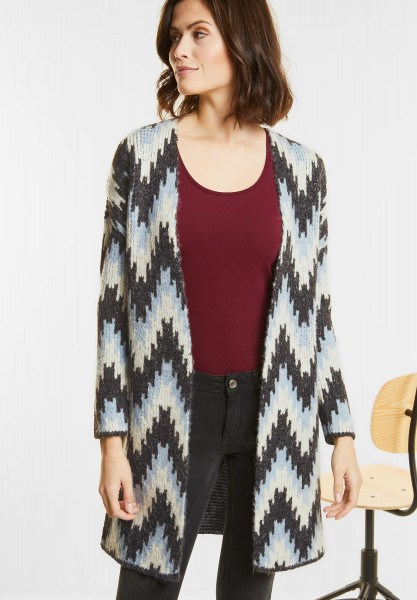 Street One - Open Style Cardigan in Ice Blue