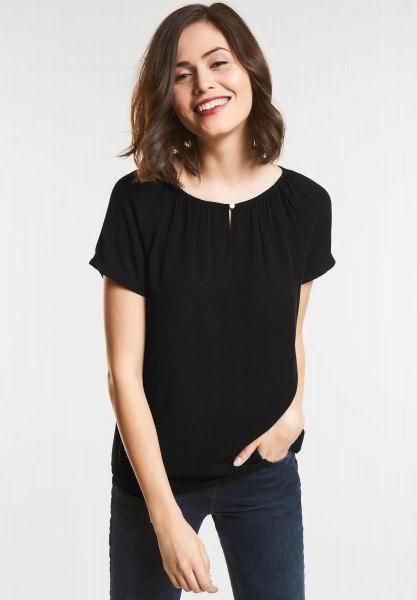 Street One Mat-Mix Carmen Shirt in Black
