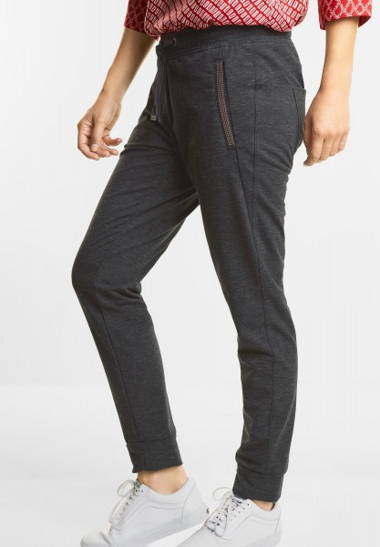 CECIL - Joggstyle Hose Chelsea in Graphit Grey Melange