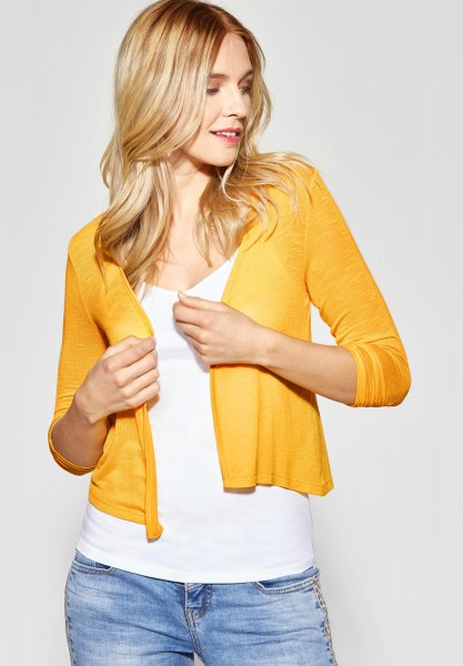 Street One - Kurze Shirtjacke Suse in Bright Clementine