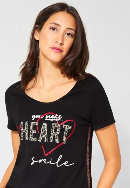 Street One - T-Shirt mit Motiv in Black