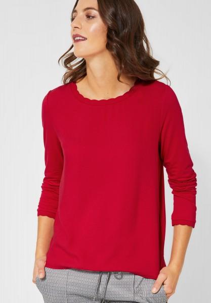 Street One - Shirt mit Wellenkante Davia in Love Red