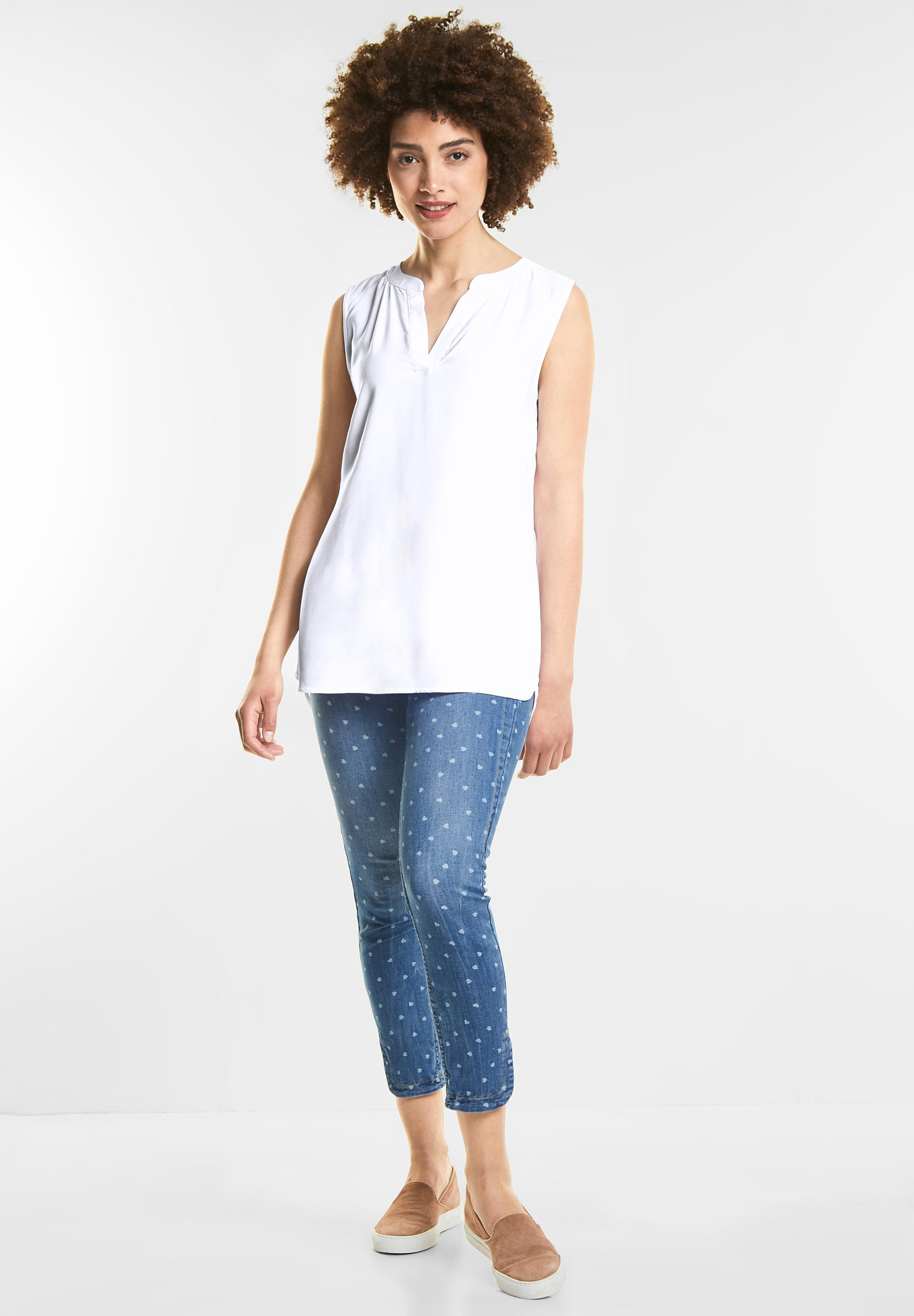brand new 0e64b b284a Street One - Top im Longblusen Style in White