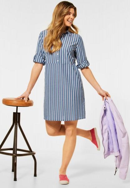 CECIL - Kleid mit Streifen Muster in Denim Blue Melange