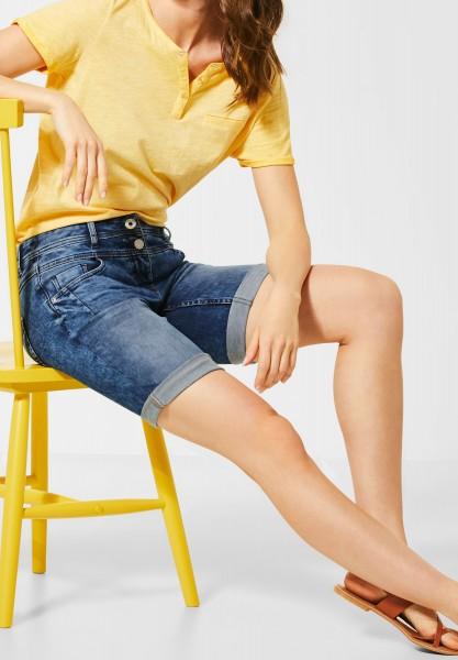 CECIL - Mittelblaue Denim-Shorts in Authentic Mid Blue Wash