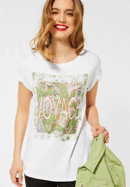 Street One - T-Shirt mit Print in White