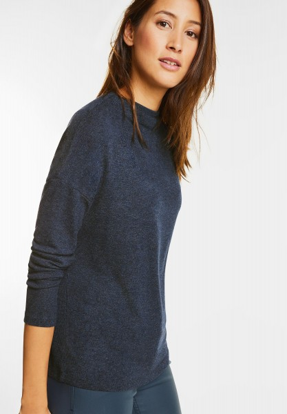 Street One - Strickshirt Lena in Night Blue Melange