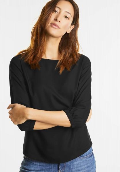Street One - Bluse mit 3/4-Arm Ottilie in Black