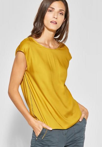 CECIL - Softe Bluse mit Schleife in Ceylon Yellow