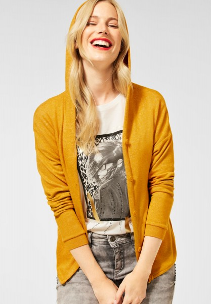 Street One - Shirtjacke mit Kapuze in Sulphur Yellow Melange