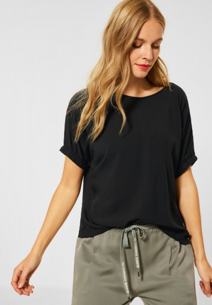 Street One - Bluse in lässigem Fit in Black