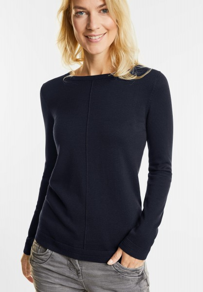 CECIL - Basic Pullover Elina in Deep Blue
