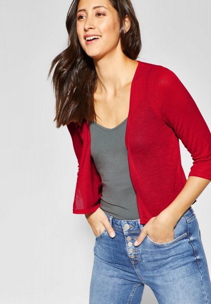 Street One - Kurze Shirtjacke Suse in Vivid Red