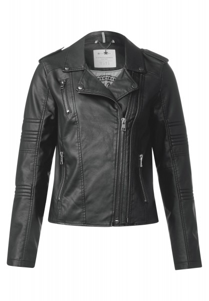 Street One - Weiche Lederimitat Jacke in Black