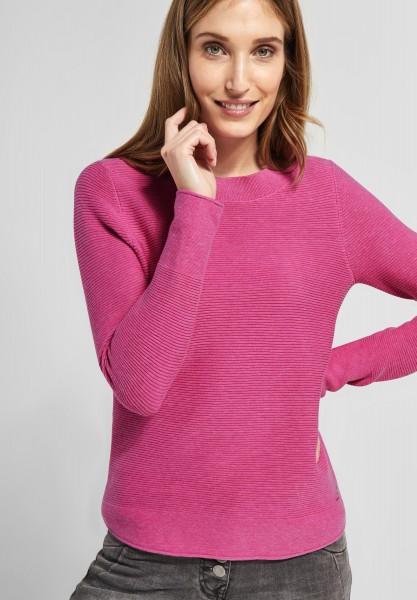 CECIL - Baumwoll Struktur Pullover in Bubblegum Pink