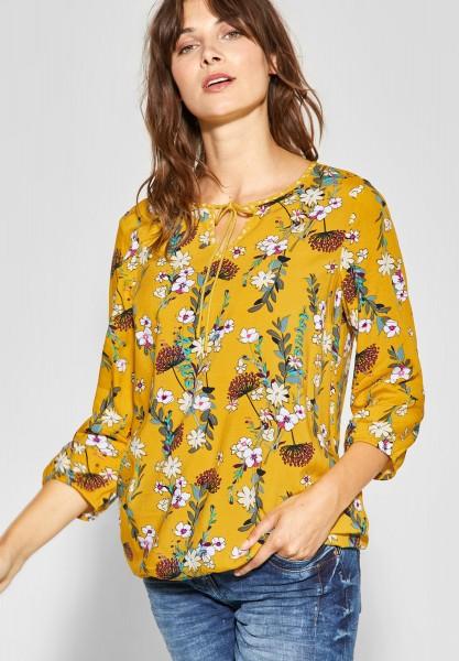 CECIL - Tunika Bluse mit Blumenprint in Ceylon Yellow