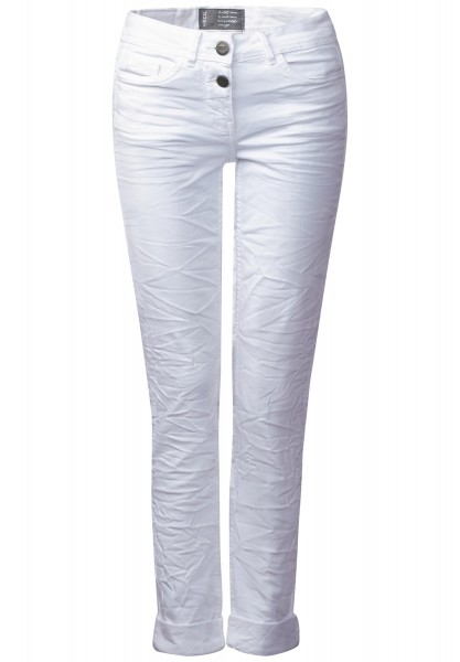 CECIL - Crash-Denim Charlize in White Denim