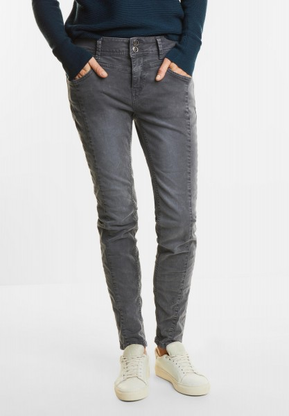 Street One - Loose Fit Coloured Denim Rob in Neo Grey Authentic Wash