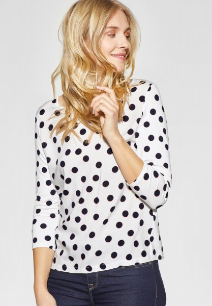 Street One - Allover Print Shirt Evi in Off White