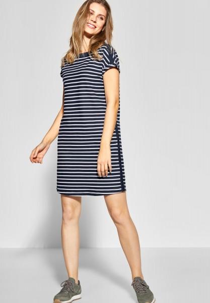 Street One - Strukturstreifen Kleid Vicky in Deep Blue
