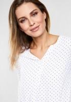 CECIL - Punkte-Print Bluse Viviana in White