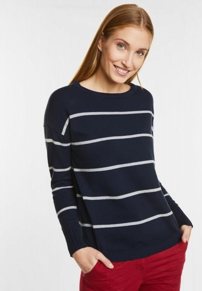 best website d191e 2dc98 CECIL - Lockerer Streifen Pullover in Deep Blue