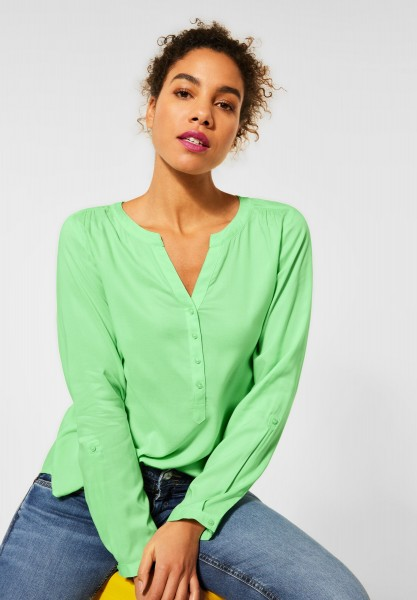 Street One - Bluse in Unifarbe in Frosted Pistachio
